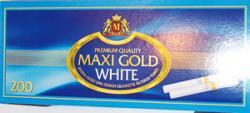 Гильзы сигаретные Maxi Gold White 200